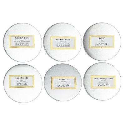 508-550 Свеча ароматическая LADECOR, в стекле, 7,5х5,1 см, 6 ароматов