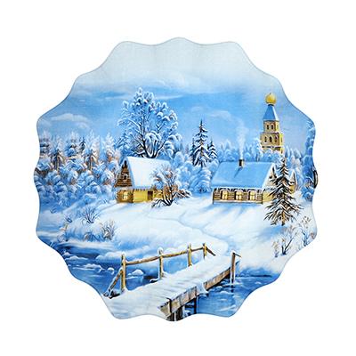 820-005 Волшебница-Зима Блюдо круглое, 20см, стекло