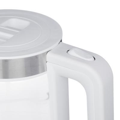 291-065 Чайник электрический 1,7 л LEBEN, 2200 Вт, стекло/пластик, LED подсветка