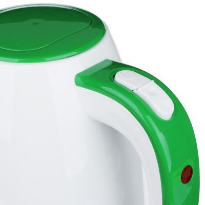 291-067 Чайник электрический 1,7 л LEBEN, 2200 Вт, пластик, белый/зеленый