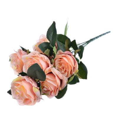 409-004 LADECOR Цветок искусственный в виде роз, букет, 48 см, пластик, полиэстер, 4 цвета