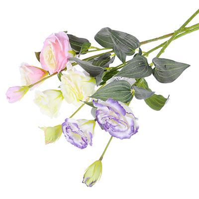 409-006 Цветок искусственный в виде колокольчиков, ветка, 67 см, пластик, полиэстер, 3 цвета