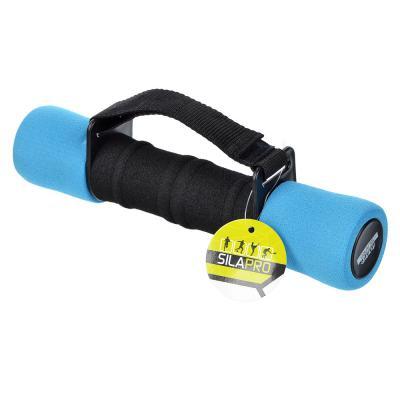 089-019 Гантель с фиксатором, вес 2 кг, поролон, металл, пластик , 2 цвета, SILAPRO