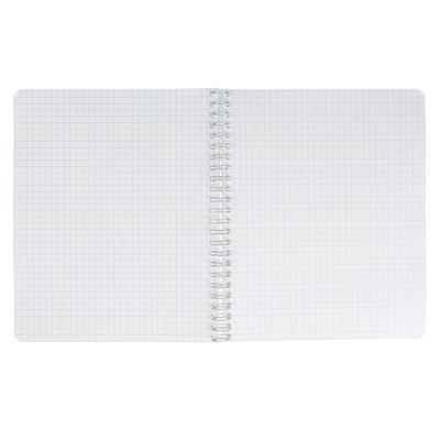 578-005 BY Тетрадь общая на спирали 96листов, в клетку, офсет, обложка импортный белый картон, УФ лак