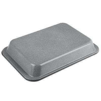 849-144 Противень глубокий SATOSHI, 37,5х25х5,5 см, углеродистая сталь, антипригарное покрытие мрамор