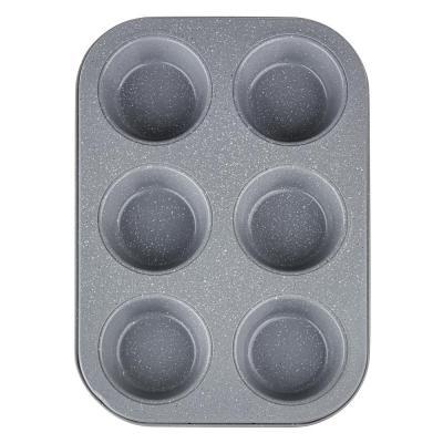849-146 Форма для выпечки булочек SATOSHI, 6 ячеек, антипригарное покрытие мрамор