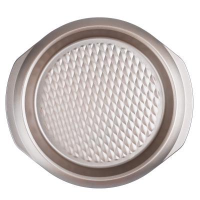 849-147 Форма для выпечки круглая, угл.сталь, 29,5х27х3,5см, золотистое покрытие