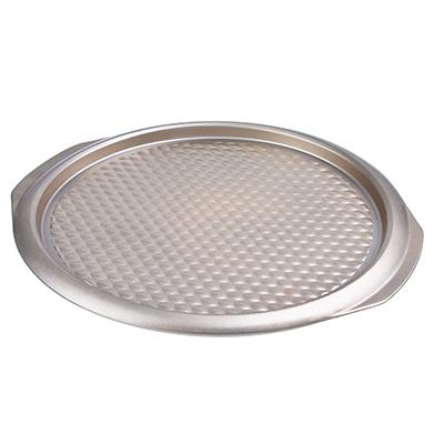849-149 Форма для пиццы 37х35х2 см, углеродистая сталь, золотистое покрытие