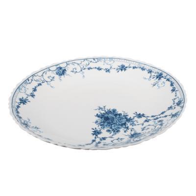 "818-593 Тарелка подстановочная  d. 24 см, опаловое стекло, MILLIMI ""Ариадна"""