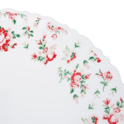 """818-810 Тарелка десертная d. 21,5 см, опаловое стекло, MILLIMI """"Майя"""""""