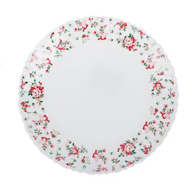 """818-810 Тарелка десертная d.21,5 см, опаловое стекло, MILLIMI """"Майя"""""""