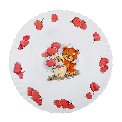 "829-172 Тарелка детская 19 см, опаловое стекло, MILLIMI ""Медвежонок"""