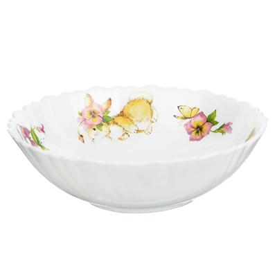 """829-176 Тарелка суповая детская 15 см, опаловое стекло, MILLIMI """"Зайчата"""""""