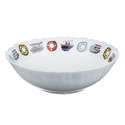 "829-179 Тарелка суповая детская 15 см, опаловое стекло, MILLIMI ""Морячок"""