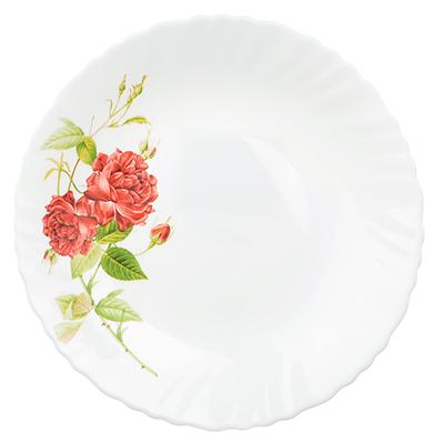 "818-090 Тарелка десертная d.19 см, опаловое стекло, MILLIMI ""Инесса"""