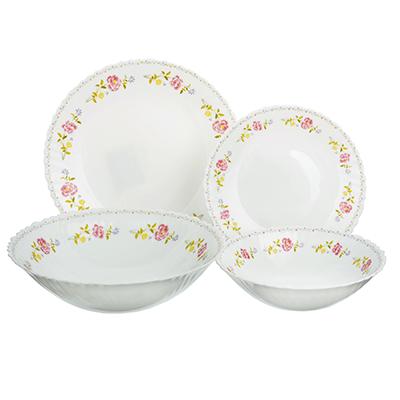 """818-095 Набор столовой посуды 19 предметов, опаловое стекло, MILLIMI """"Диана"""""""