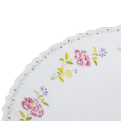 "818-096 Тарелка десертная d.19 см, опаловое стекло, MILLIMI ""Диана"""