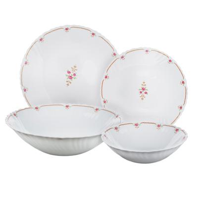 """818-101 Набор столовой посуды 19 предметов, опаловое стекло, MILLIMI """"Наяда"""""""