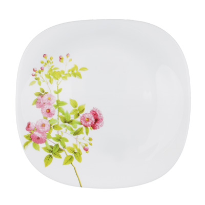 "818-110 Тарелка десертная d. 21,5 см, опаловое стекло, квадратная форма, MILLIMI ""Верона"""