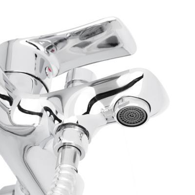 """561-231 Смеситель для ванны, короткий излив с душевым комплектом, картридж 35 мм, латунь, """"Топаз"""" RAIN"""