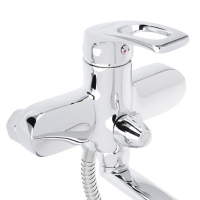 561-238 Смеситель для ванны, длинный излив 35 см, с душевым комплектом, картридж 35 мм, керамическим диверто