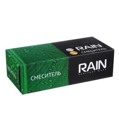 561-240 RAIN Смеситель для ванны Оникс, дл. излив 35см с душ. набором, карт. 35мм, кер. дивертор, латунь