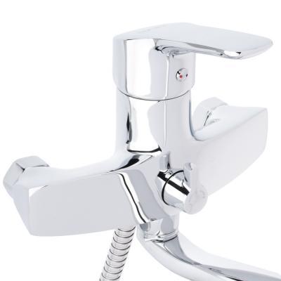 561-246 Смеситель для ванны, длинный излив 35 см с набором для душа, картридж 40 мм, керамический дивертор,