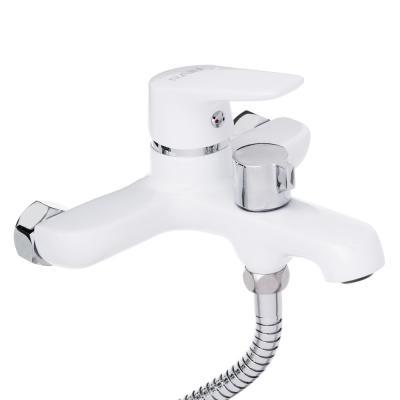 """561-249 Смеситель для ванны, короткий излив, с душ комплектом, картридж 35 мм, латунь, """"Алмаз"""" RAIN"""