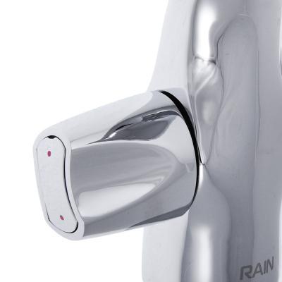 561-253 RAIN Смеситель для раковины Фианит, с дон. клапаном, шпилька, латунь