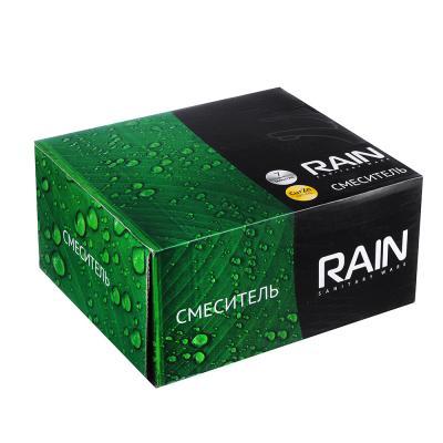 561-256 RAIN Смеситель для ванны Фианит, кор. излив с душ набором, латунь