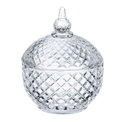 "877-596 Конфетница с крышкой, стекло, 9,5x12 см, ""Алисия"""