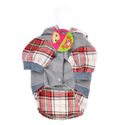 151-109 Рубашка для животных в клетку, полиэстер, 25, 35 см, 2 цвета