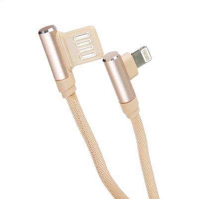 470-031 FORZA Кабель для зарядки iP, 1м, 2А, боковой штекер, коннект с ПК, белый, коробка ПВХ