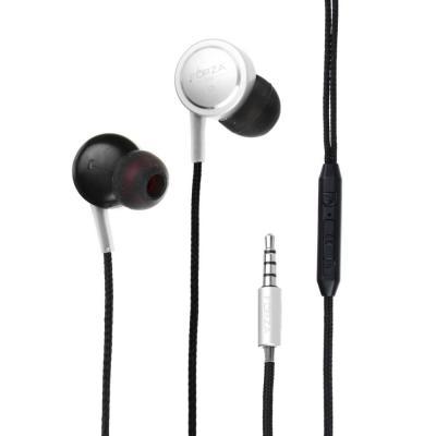 Наушники вакуумные с микрофоном, 2 пары насадок, 120см, металл, пластик, 3 цвета-1