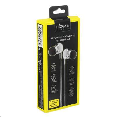 Наушники вакуумные с микрофоном, 2 пары насадок, 120см, металл, пластик, 3 цвета-3