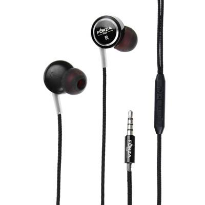 Наушники вакуумные с микрофоном, 2 пары насадок, 120см, металл, пластик, 3 цвета