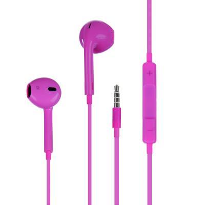 410-013 Наушники вкладыши FORZA с гарнитурой, пластиковый бокс, 4 цвета