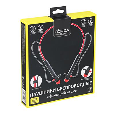 410-014 FORZA Наушники беспроводные спорт, пластик, 4 цвета