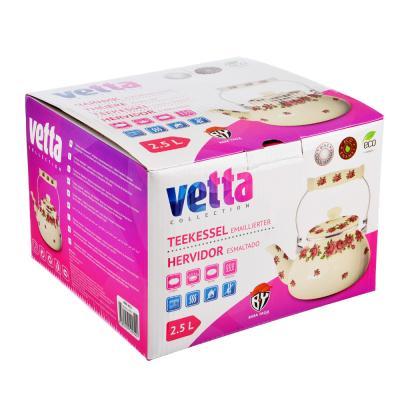 894-452 Чайник 2,5 л VETTA Розанна, эмалированный, индукция