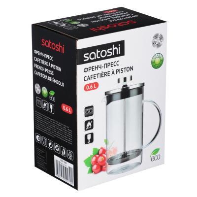 850-185 Френч-пресс 600 мл SATOSHI Тэмму, жаропрочное стекло
