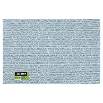 """890-324 Салфетка сервировочная ПВХ, 30x45см, 4 цвета, """"Узоры"""""""