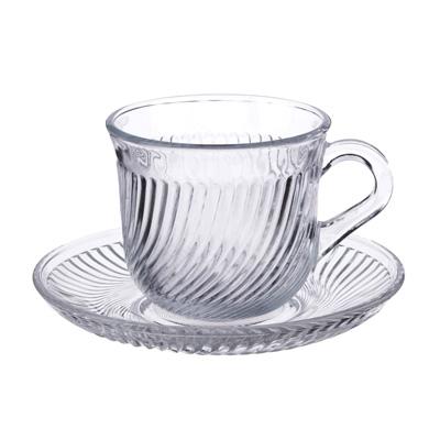 """806-399 Чайная пара: чашка 200 мл, блюдце, стекло, """"Глория"""""""