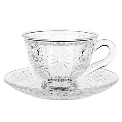 """806-405 Чайная пара: чашка 200 мл, блюдце, стекло, """"Соната"""""""