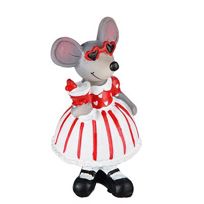 "414-043 Фигурка, полирезина, 7х6х12,5см, MILLIMI ""Маленькая мышка"""