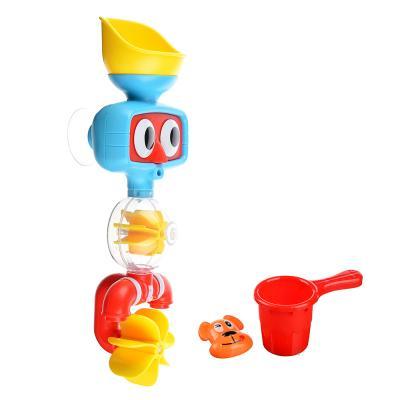260-012 ИГРОЛЕНД Игрушка для ванной с мельничкой, пластик, 10х26х6см, 2 дизайна