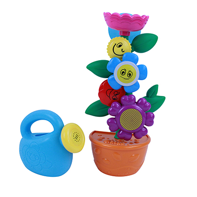 260-013 Игрушка для ванной цветок, пластик, 16х60х12/15х49х15см, 2 дизайна