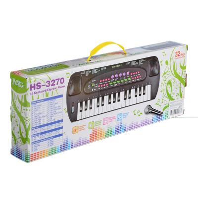 889-035 Синтезатор, 32 клавиши, микрофон в комплекте, бат. ЗАА, 44х17х5см