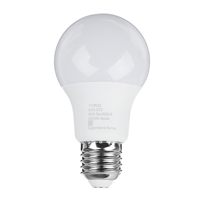 925-073 FORZA Лампа светодиодная A60 9W, E27, 806lm 4000К