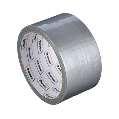 472-047 Лента клейкая армированная, 48 ммх10 м, серебряная, инд.упаковка, ЕРМАК