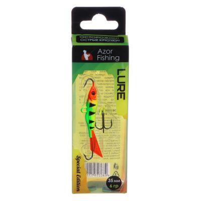 """125-070 AZOR FISHING Балансир """"Малек"""", 5 гр, цвет в ассортименте (оранжевый/кислотный)"""